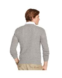 Polo Ralph Lauren - Gray Cable-knit Cashmere Sweater for Men - Lyst