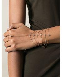 Elise Dray | Metallic Hand Bracelet | Lyst