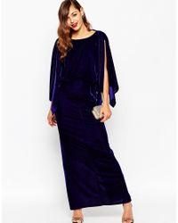 ASOS | Blue Red Carpet Kaftan Velvet Maxi Dress | Lyst