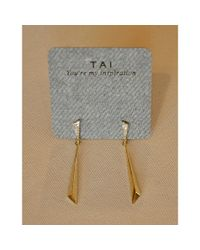 Tai | Metallic Stick Drop Earring | Lyst