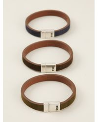 DSquared² - Brown Set Of Three Bracelets for Men - Lyst