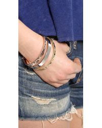House of Harlow 1960 - Metallic Santorini Stack Bangle Set - Lyst