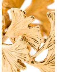 Aurelie Bidermann | Metallic Ginkgo Ring | Lyst