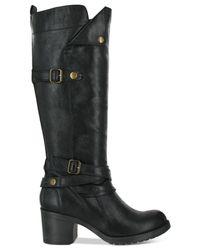 MIA - Black Sabato Lug Heel Boots - Lyst