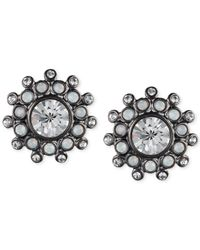 Givenchy - Blue Hematite-Tone Crystal Stud Earrings - Lyst