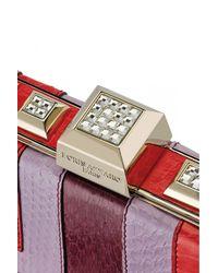 Azzaro | Multicolor Vendôme Calf Leather Clutch | Lyst