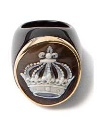Amedeo | Black Crown Onyx Ring | Lyst