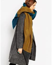 ASOS - Multicolor Oversized Scarf In Woven Colour Block - Lyst