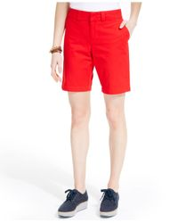 Tommy Hilfiger | Red Hollywood Bermuda Shorts | Lyst