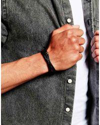 Paul Smith | Black Leather Wraparound Bracelet for Men | Lyst