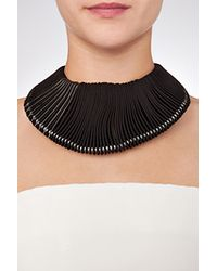 Donna Karan - Leather/metal Necklace In Black - Lyst