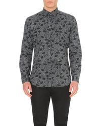 DIESEL | Black S-temari Floral-patterned Shirt for Men | Lyst