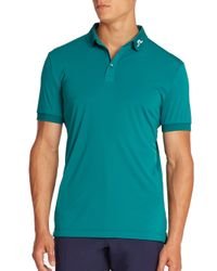 J.Lindeberg | Blue Logo High-tech Wicking Polo for Men | Lyst