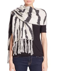 Genie by Eugenia Kim - Natural Linley Zebra-Patterned Scarf - Lyst