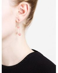 Asherali Knopfer | Pink Interchangeable Ball And Gold Bar Earring | Lyst
