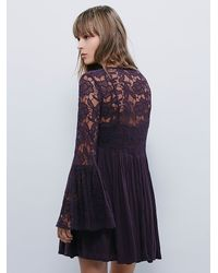 Free People | Purple Womens With Love Dress | Lyst