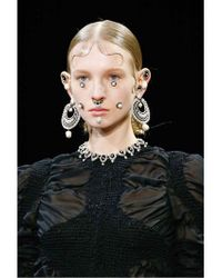 Givenchy | Metallic Crystal & Imitation Pearls Earrings | Lyst