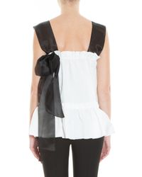 Rochas - White Frilled Top - Lyst