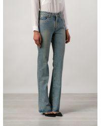 Saint Laurent - Blue Flared Jeans - Lyst