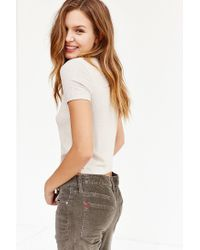 BDG - White Classic Cropped Tee - Lyst