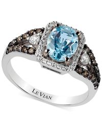 Le Vian - Aquamarine (1 Ct. T.w.) And Diamond (1/2 Ct. T.w.) Ring In 14k White Gold - Lyst