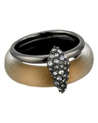 Alexis Bittar | Gray Crystal Encrusted Movable Band Ring | Lyst