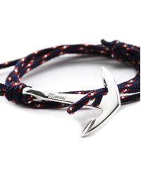 Miansai | Silver Tone Anchor Rope Navy Blue Bracelet for Men | Lyst