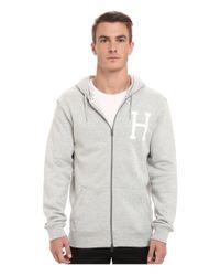 Huf | Gray Pt Zip-up Hoodie for Men | Lyst