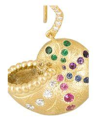 Aurelie Bidermann | Metallic 18-karat Gold Multi-stone Shell Earring | Lyst