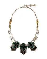 Lulu Frost | Metallic Silver-plated Vaulted Necklace | Lyst