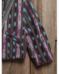 Free People - Multicolor Vintage Ikat Print Jacket - Lyst
