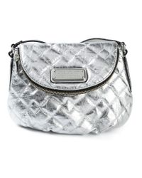 Marc By Marc Jacobs | New Q Natasha Metallic-leather Cross-body Bag | Lyst