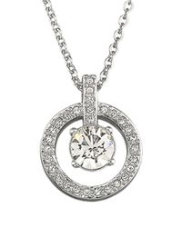 Swarovski   Metallic Lavender Crystal Pendant Necklace   Lyst