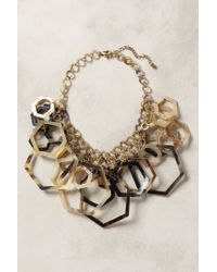 Anthropologie | Metallic Hedra Bib Necklace | Lyst