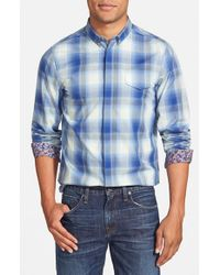 Ben Sherman | Blue 'ombre Check' Mod Fit Poplin Woven Shirt for Men | Lyst