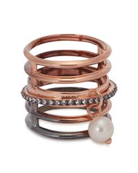 Katie Rowland | Pink Irina Dip-dye Rose Gold-plated Ring | Lyst