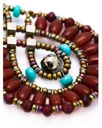 Ziio | Multicolor Beaded Drop Earrings | Lyst