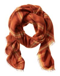 Banana Republic | Orange Reese Plaid Scarf | Lyst