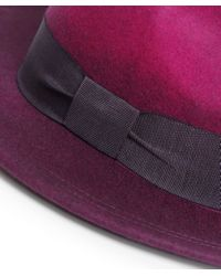 Paul Smith - Pink Degrade Wool Fedora Hat - Lyst