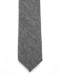 TOPMAN - Gray Charcoal Wool Tie for Men - Lyst