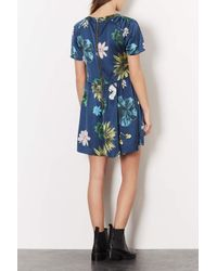 TOPSHOP   Blue Tokyo Bud Tunic Dress   Lyst