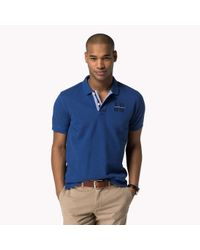 Tommy Hilfiger | Blue Cotton Regular Fit Polo for Men | Lyst