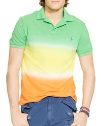 Ralph Lauren | Green Polo Custom Fit Dip Dyed Polo Shirt - Slim Fit for Men | Lyst
