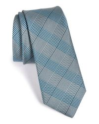 W.r.k. | Blue Plaid Silk & Cotton Tie for Men | Lyst