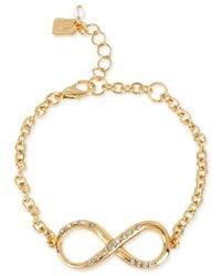 Robert Lee Morris | Metallic Gold-Tone Infinity Bracelet | Lyst
