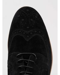 LAC - Black Marble Brogue Bk Suede Brogues for Men - Lyst