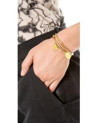 Kate Spade | Metallic Charm Letter Bangle Bracelet - N | Lyst