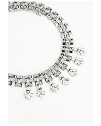Missguided | Metallic Statement Gem Woven Chain Collar Silver | Lyst