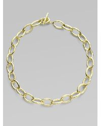 Ippolita | Metallic Glamazon 18k Yellow Gold Mini Bastille Link Chain Necklace | Lyst