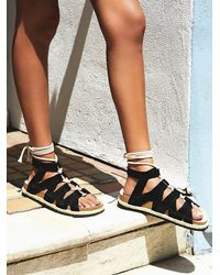 Free People | Black Fp Collection Womens All Points Sandal | Lyst